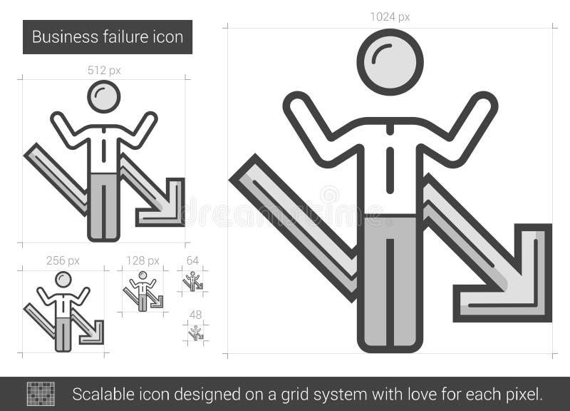 Biznesowego niepowodzenia linii ikona ilustracja wektor