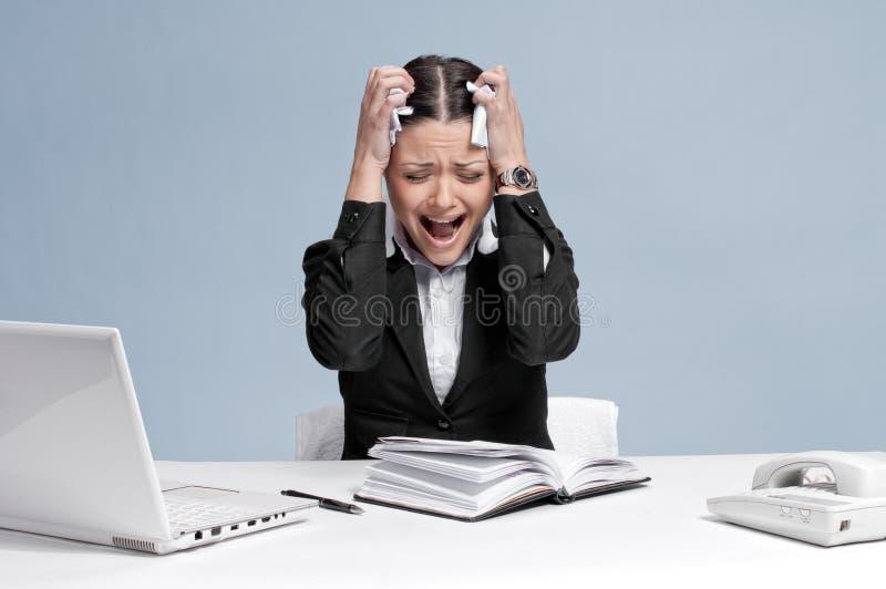 biznesowego organizatora osobista smutna kobieta zdjęcia royalty free
