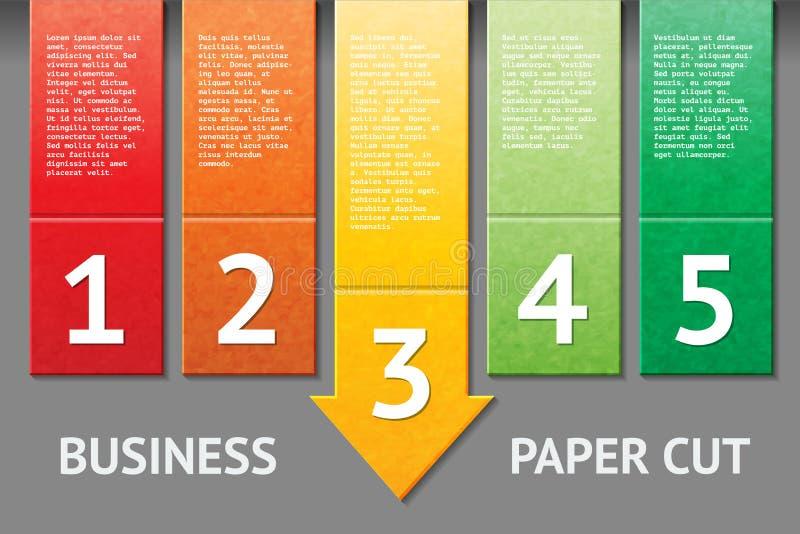 Biznesowego papieru rżnięty szablon ilustracja wektor