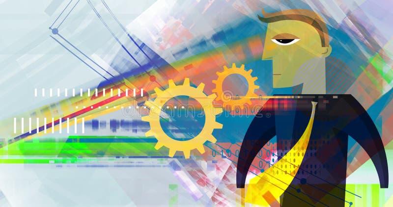 Biznesowego planowania abstrakt - ilustracja ilustracja wektor