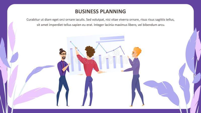 Biznesowego planowania Grath charakteru Wektorowy sztandar ilustracji