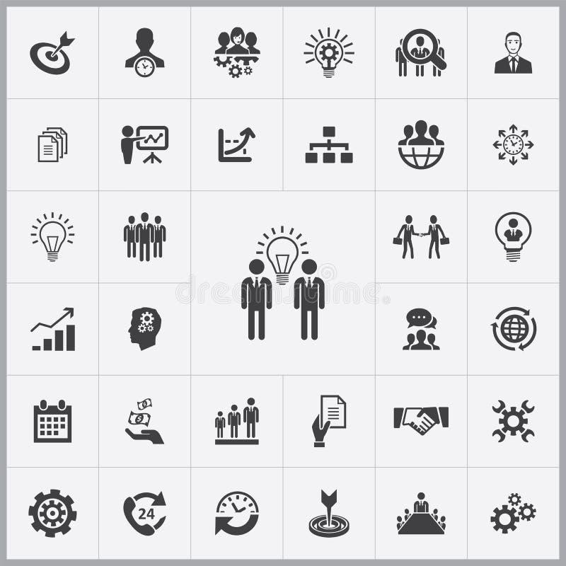 Biznesowego planowania ikon cechy ogólnej set ilustracja wektor