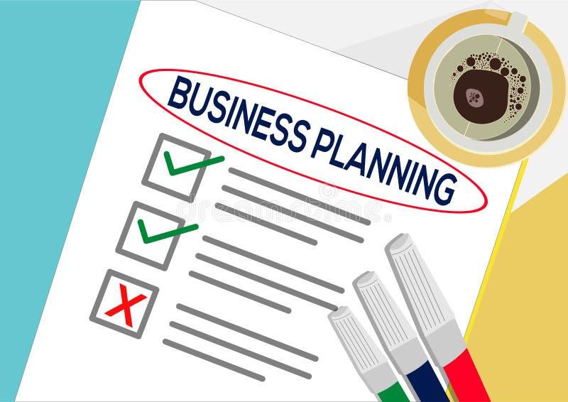 Biznesowego planowania lub planu ikony pojęcie Jeden zadanie nie udać się Papier ciąć na arkusze z czek ocenami, abstrakcjonistyc royalty ilustracja