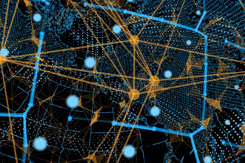 biznesowego pojęcia globalni internety royalty ilustracja