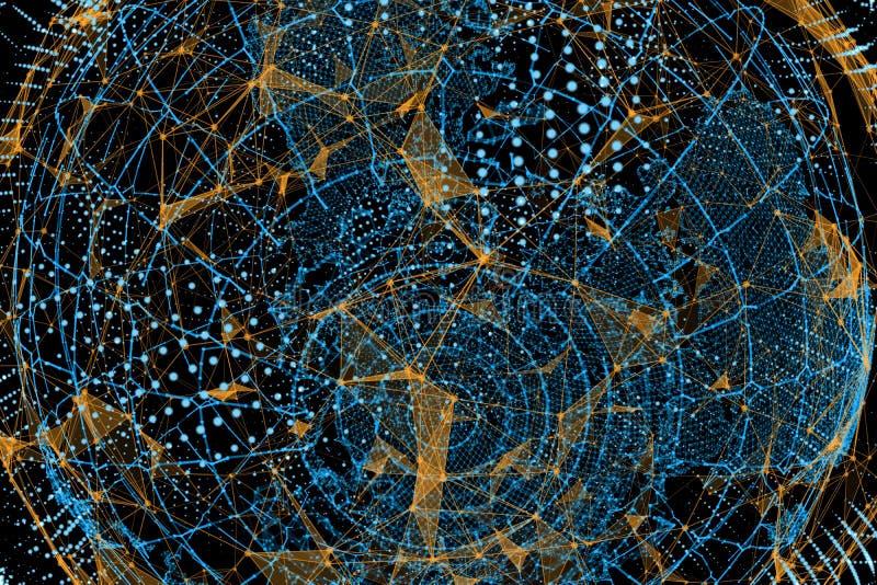 biznesowego pojęcia globalni internety ilustracja wektor