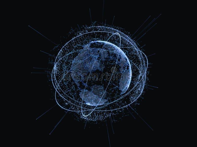 biznesowego pojęcia globalni internety Cyfrowego świat royalty ilustracja