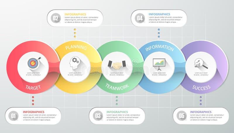 Biznesowego pojęcia infographic szablon, Może używać dla obieg układu, diagram ilustracji