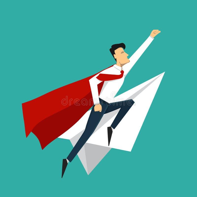 biznesowego pojęcia odosobniony sukcesu biel Meta Super lider i supe ilustracji