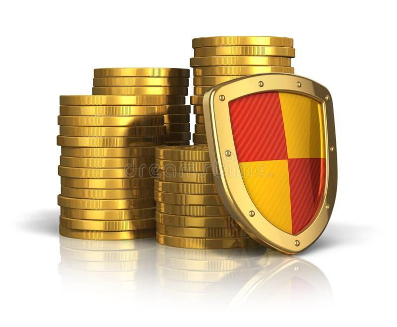 biznesowego pojęcia pieniężna asekuracyjna stabilność royalty ilustracja