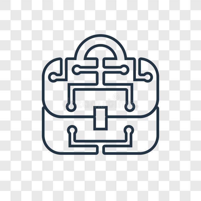 Biznesowego pojęcia wektorowa liniowa ikona odizolowywająca na przejrzystym plecy ilustracji