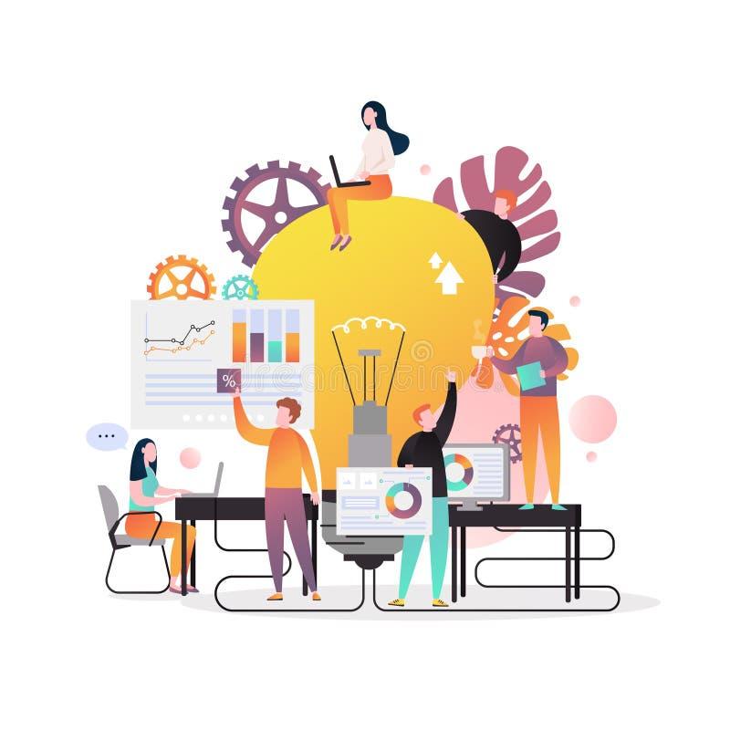 Biznesowego pomysłu wektorowy pojęcie dla sieć sztandaru, strony internetowej strona ilustracja wektor
