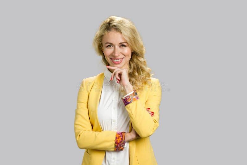 biznesowego portreta uśmiechnięta kobieta obrazy stock