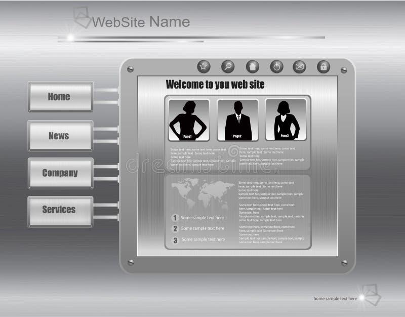 biznesowego projekta kruszcowa srebna szablonu strona internetowa ilustracji