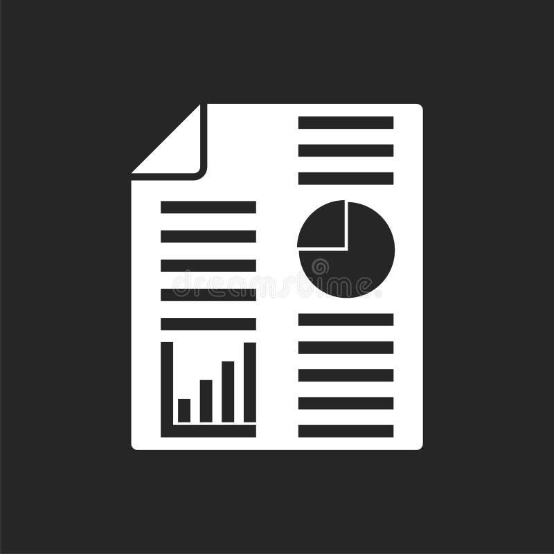 Biznesowego raportu ikona royalty ilustracja