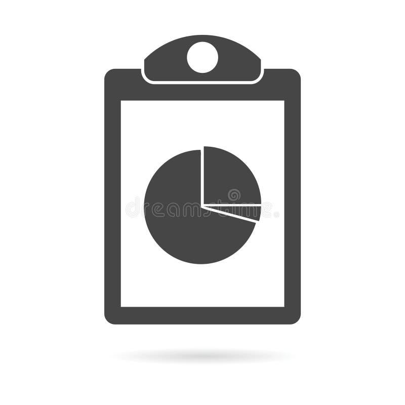 Biznesowego raportu ikona ilustracja wektor