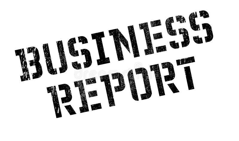 Biznesowego raportu pieczątka royalty ilustracja