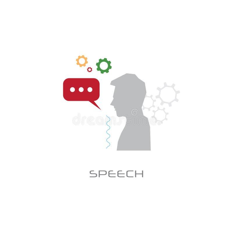 Biznesowego seminaryjnego komunikacyjnego mężczyzny gadki bąbla mowy pojęcia kreskowego stylu bielu głośnikowy tło ilustracja wektor