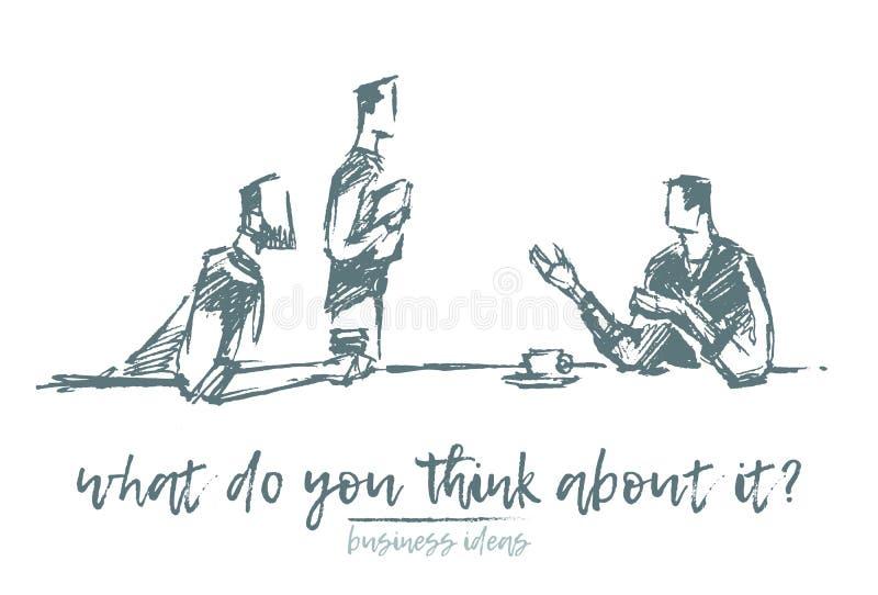 Biznesowego spotkania brainstorming drużyna praca wektor ilustracji