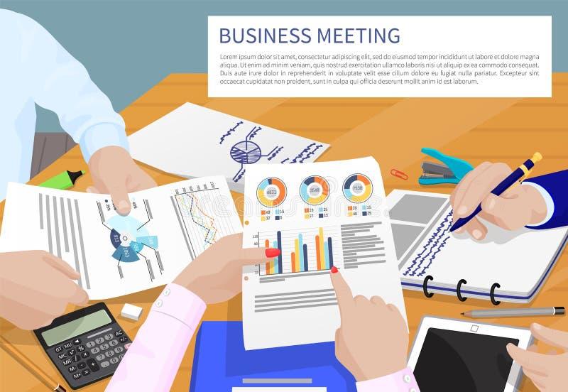 Biznesowego spotkania i teksta wektoru ilustracja ilustracja wektor