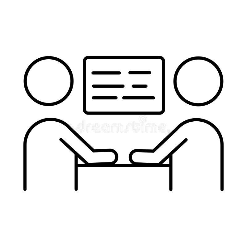 Biznesowego spotkania ikona wektoru szyldowy symbol royalty ilustracja