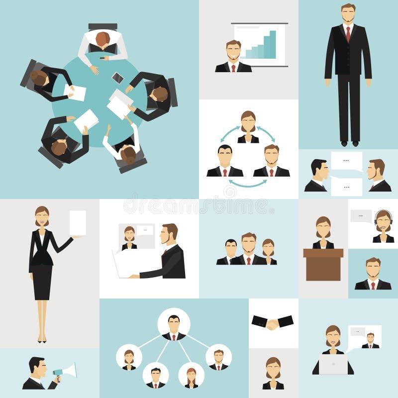 biznesowego spotkania ikony royalty ilustracja