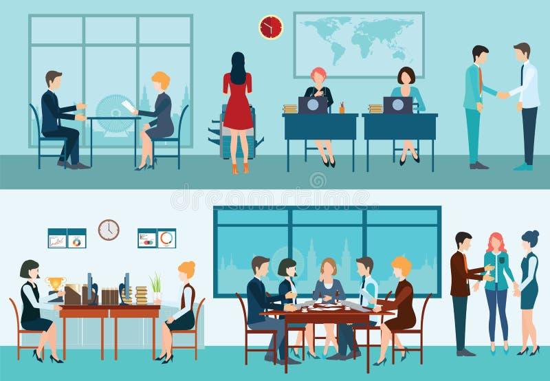 Biznesowego spotkania konceptualna wektorowa ilustracja royalty ilustracja