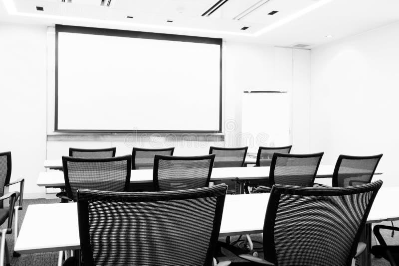 Biznesowego spotkania prezentaci seminaryjny pokój obraz stock