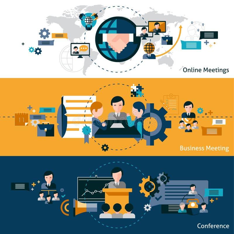 Biznesowego spotkania sztandary ilustracji