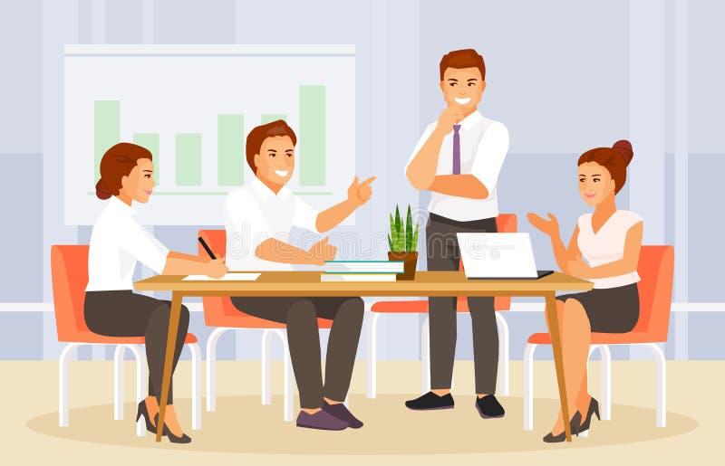 Biznesowego spotkania wektor ilustracja wektor