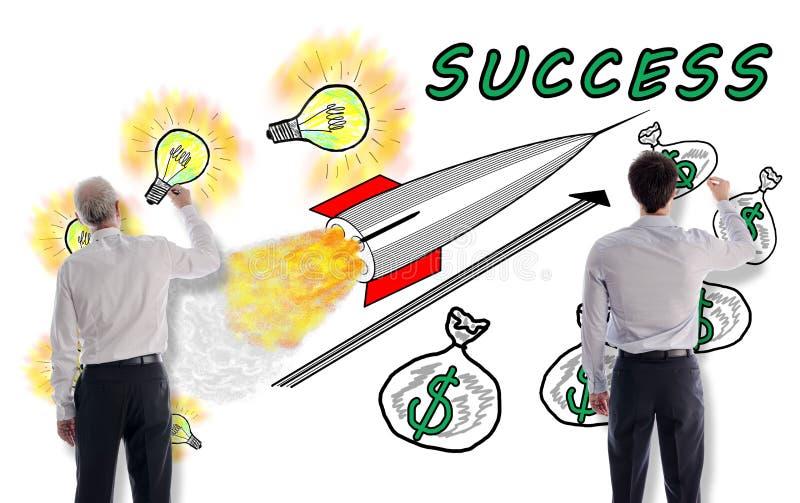 Biznesowego sukcesu pojęcie rysujący biznesmenami obraz stock