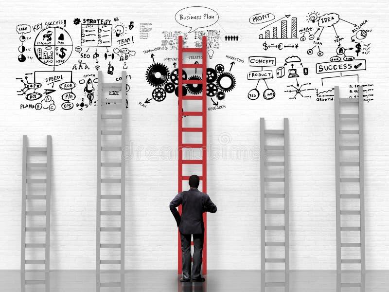 Biznesowego sukcesu pojęcie z planem biznesowym obrazy stock
