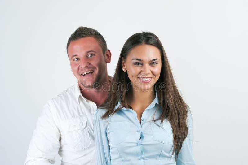 biznesowego szczęśliwego portreta uśmiechnięci kobiety potomstwa obrazy stock