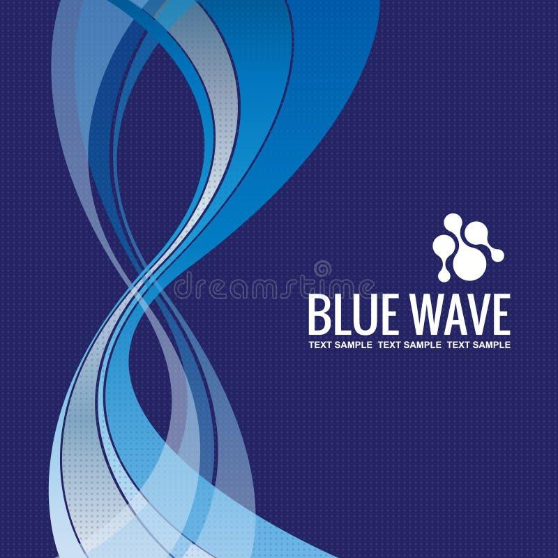 Biznesowego tło szablonu błękita fala projekta Abstrakcjonistyczny wektor royalty ilustracja