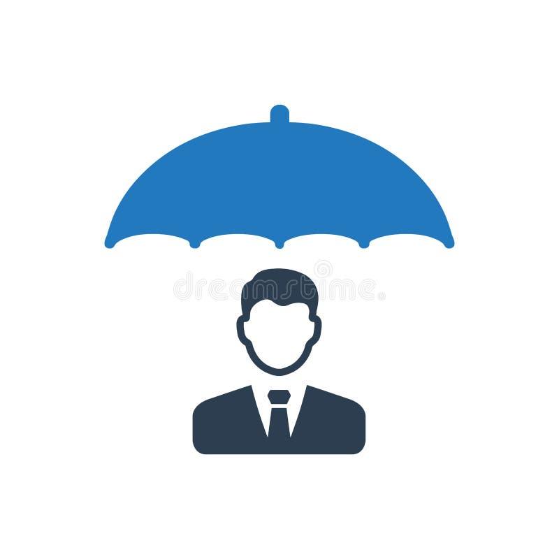 Biznesowego ubezpieczenia ikona ilustracja wektor