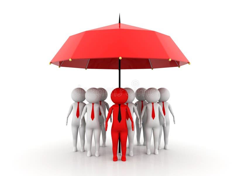 Biznesowego ubezpieczenia pojęcie świadczenia 3 d ilustracja wektor