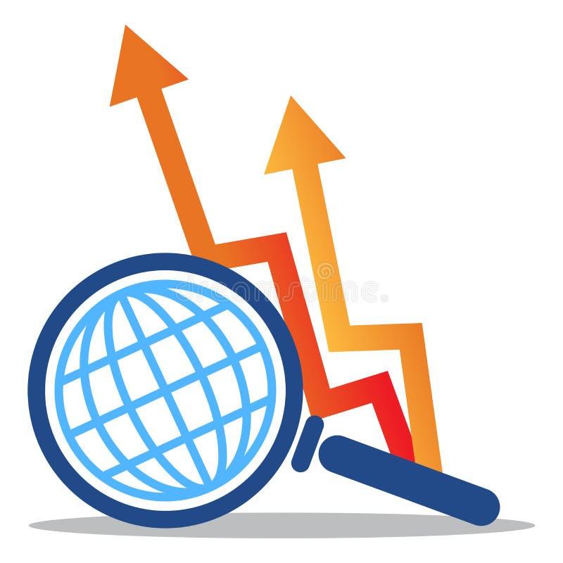 biznesowego wykresu mapy strzałkowaty logo royalty ilustracja