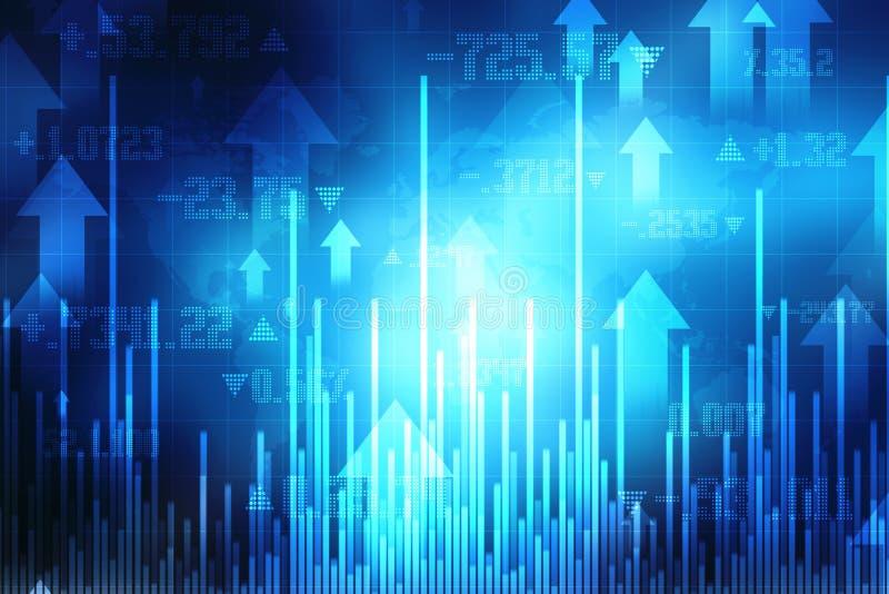 Biznesowego wykresu tło, rynek papierów wartościowych mapa, Pieniężny tło ilustracji