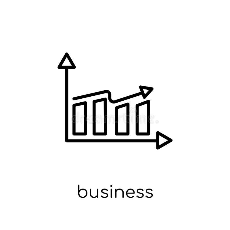 biznesowego występu ikona Modny nowożytny płaski liniowy wektorowy busi ilustracja wektor
