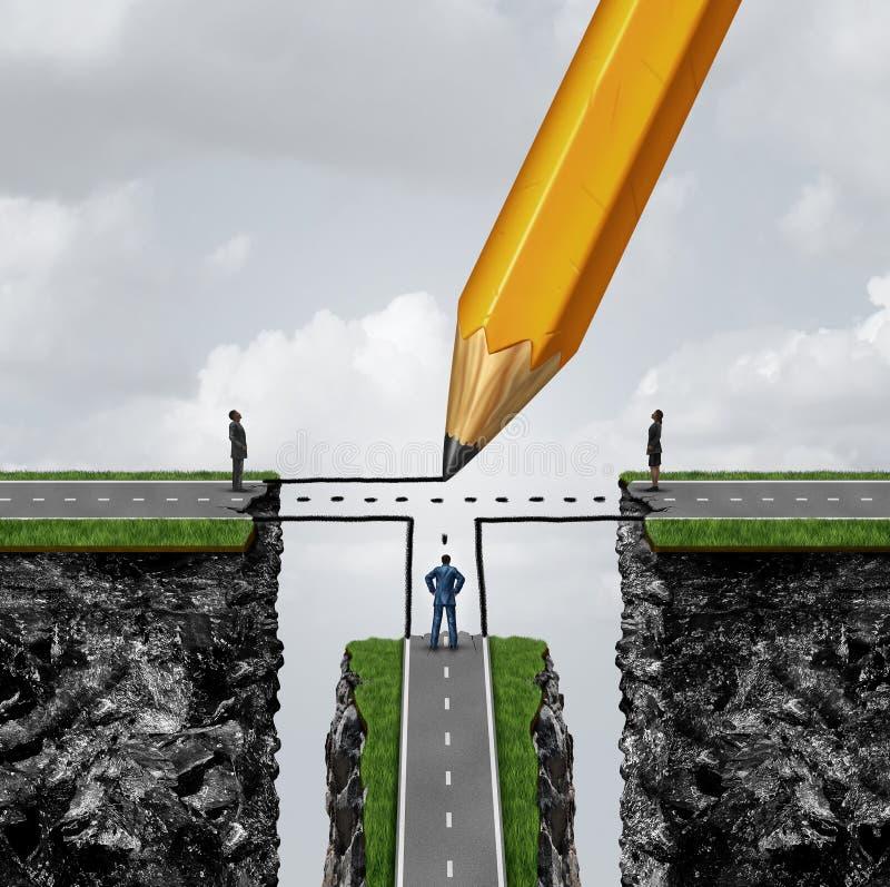 Biznesowego związku rozwiązanie ilustracja wektor