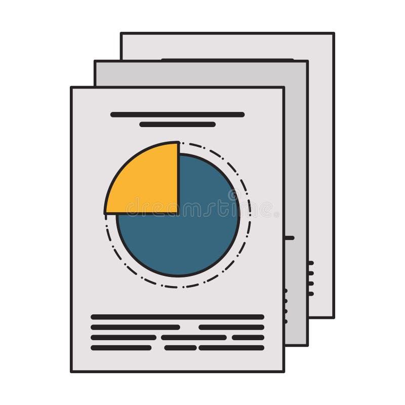 Biznesowego zysku ładunków elektrostatycznych wykresu raporty ilustracja wektor