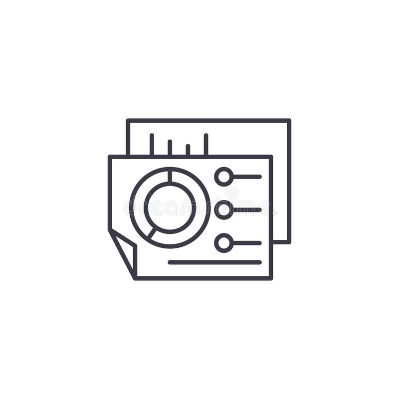 Biznesowej deski rozdzielczej ikony liniowy pojęcie Biznesowy deski rozdzielczej linii wektoru znak, symbol, ilustracja ilustracja wektor