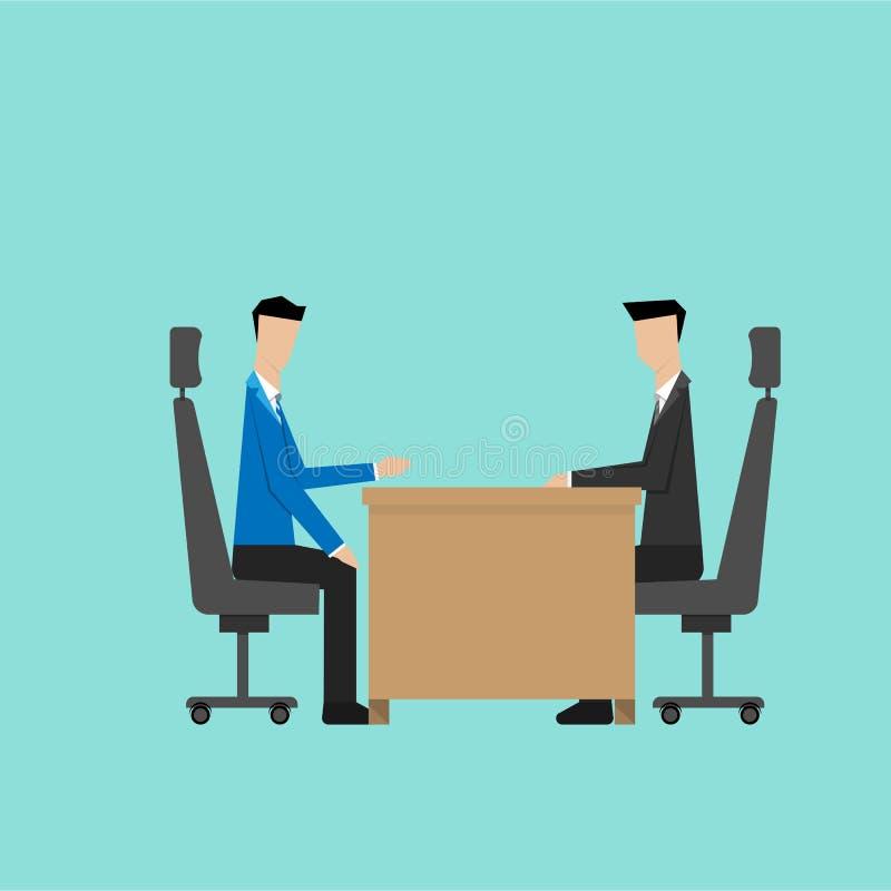 Biznesowej dyskusi akcydensowy wywiad royalty ilustracja