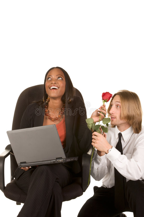 biznesowej flirtu miłości biurowa miejsca praca obrazy stock