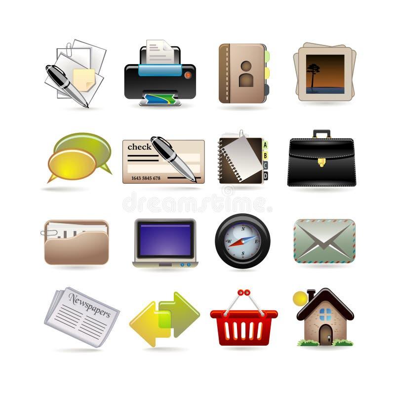 biznesowej ikony online set ilustracja wektor