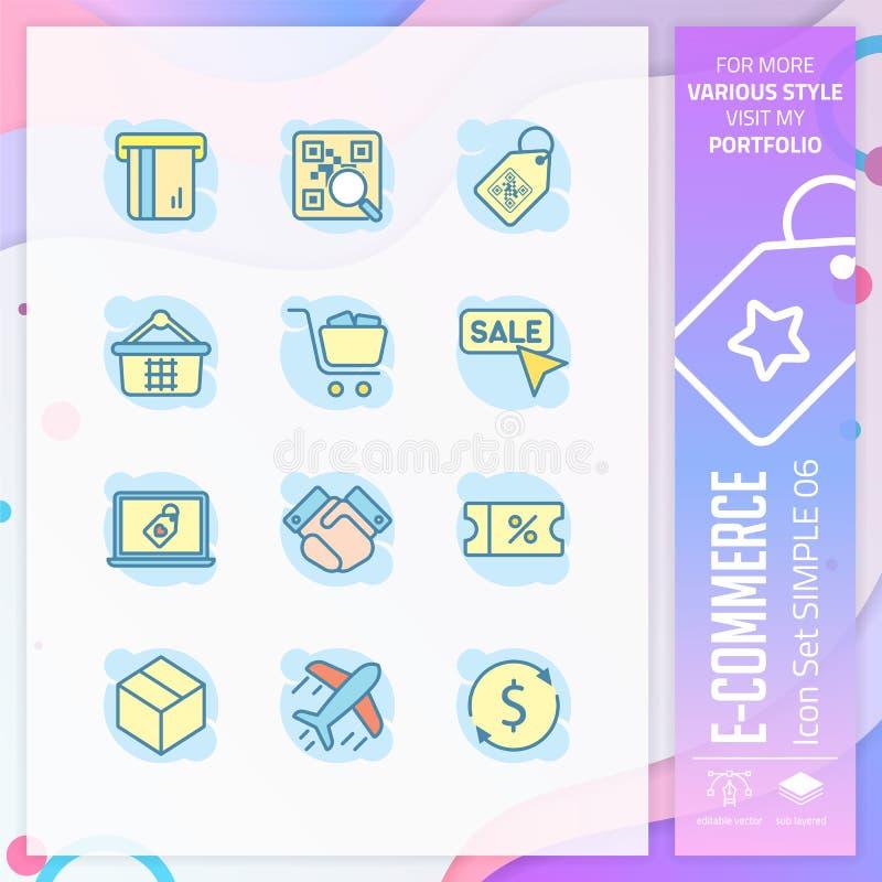 Biznesowej ikony projekta ustalony wektor z prostym poj?ciem Handel elektroniczny ikona dla strona internetowa elementu, app, UI, ilustracja wektor