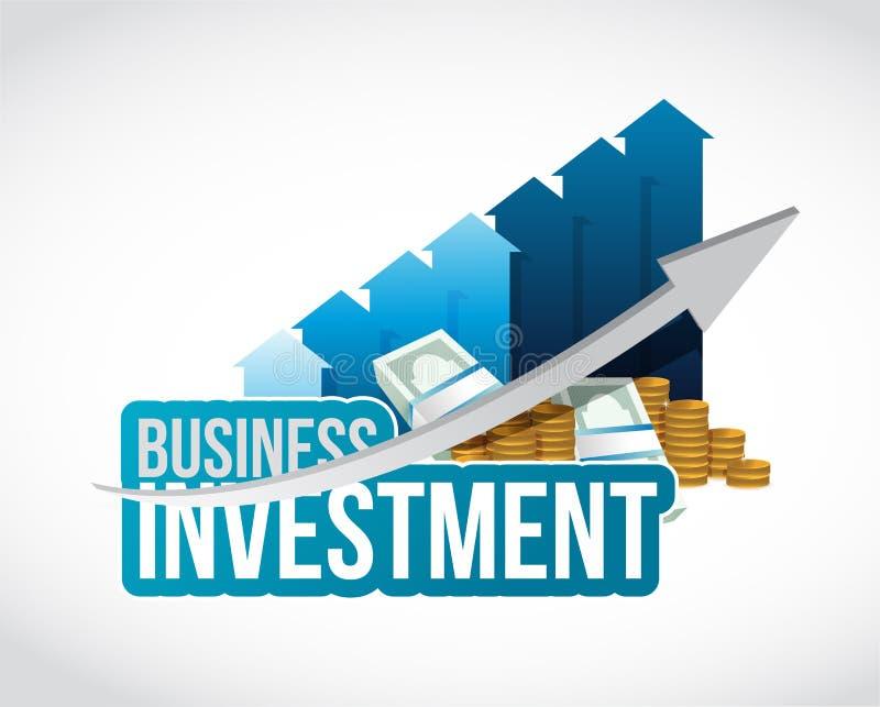 Biznesowej inwestyci gotówka i wykresu szyldowy pojęcie ilustracji