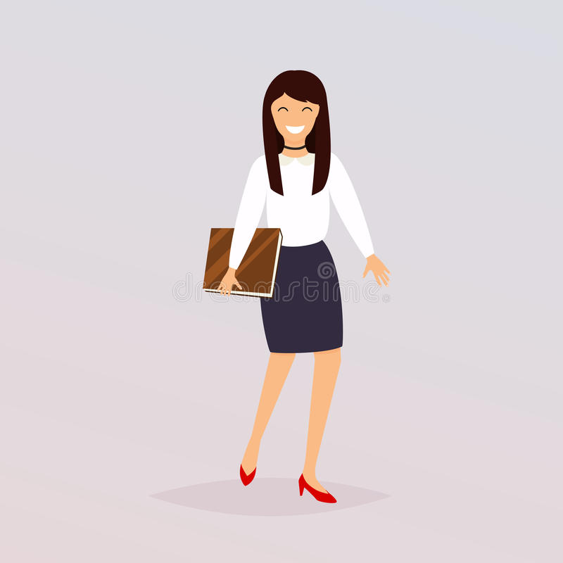Biznesowej kobiety charakteru wektor Płaskiego projekta nowożytny wektorowy illus ilustracja wektor