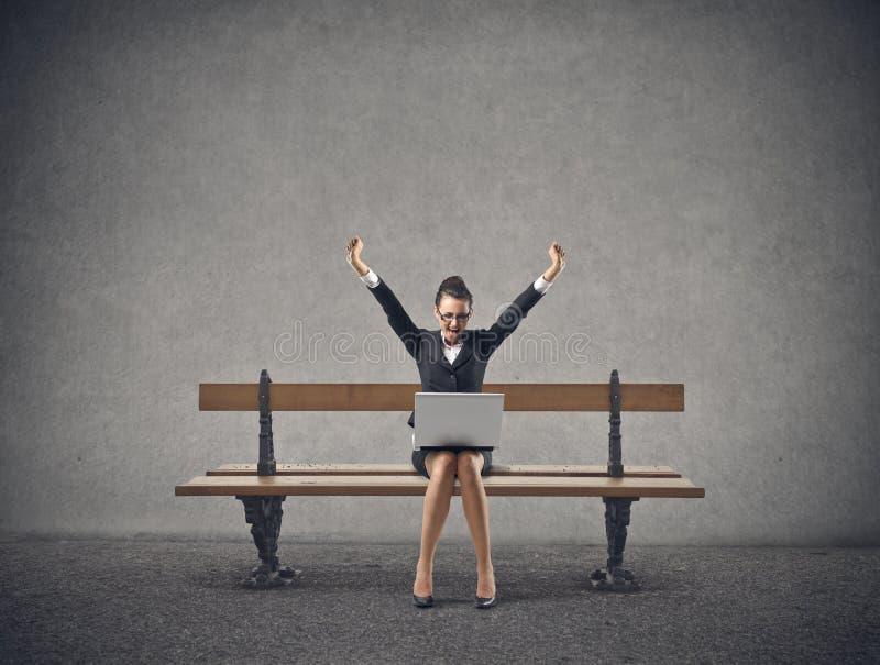 Biznesowej kobiety doping fotografia stock