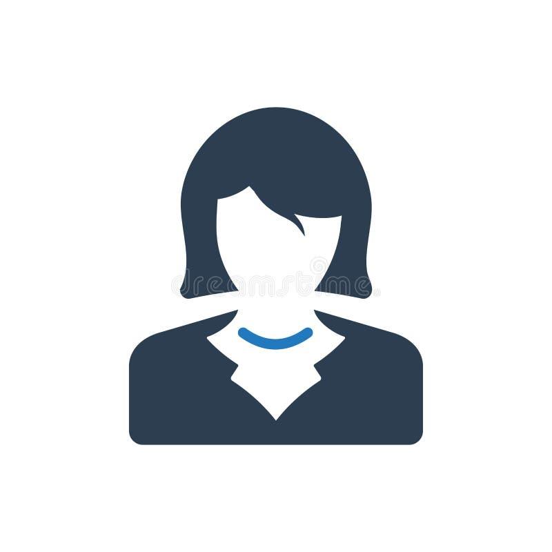 biznesowej kobiety ikona royalty ilustracja