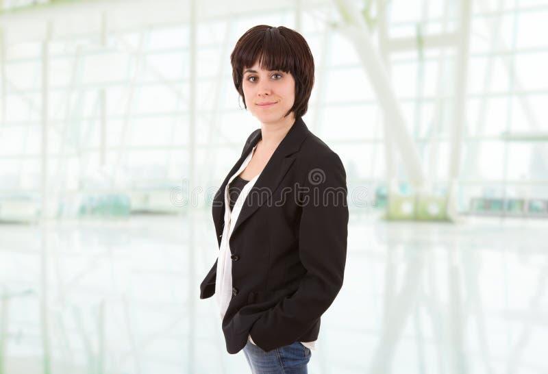 biznesowej kobiety portret przy biurem zdjęcia royalty free